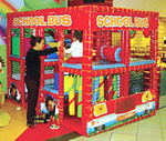Playground Equipment - Indoors - Contained Play Structures - School Bus
