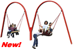 Playground Equipment :: Commercial Swings and Swingsets :: Biggo Duo Swingset